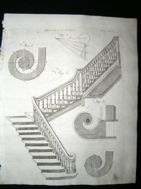 Architecture C1790 Antique Print. Staircase 46